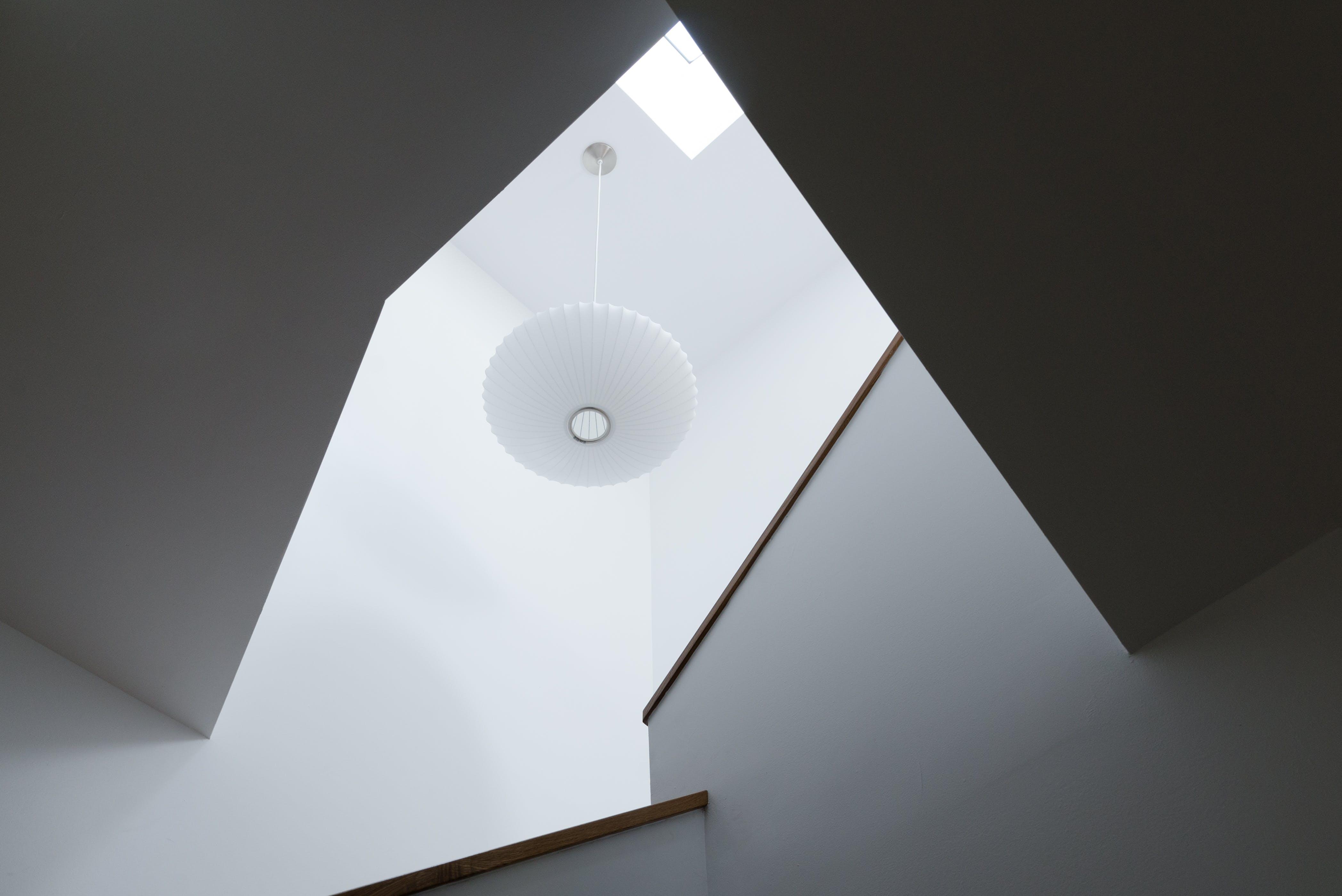 Turned-on White Pendant Lamp