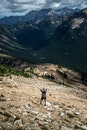 mountains, hiker, hiking