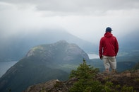 person, mountain, hiker