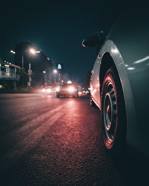 Free stock photo of car, cars, city, illuminated