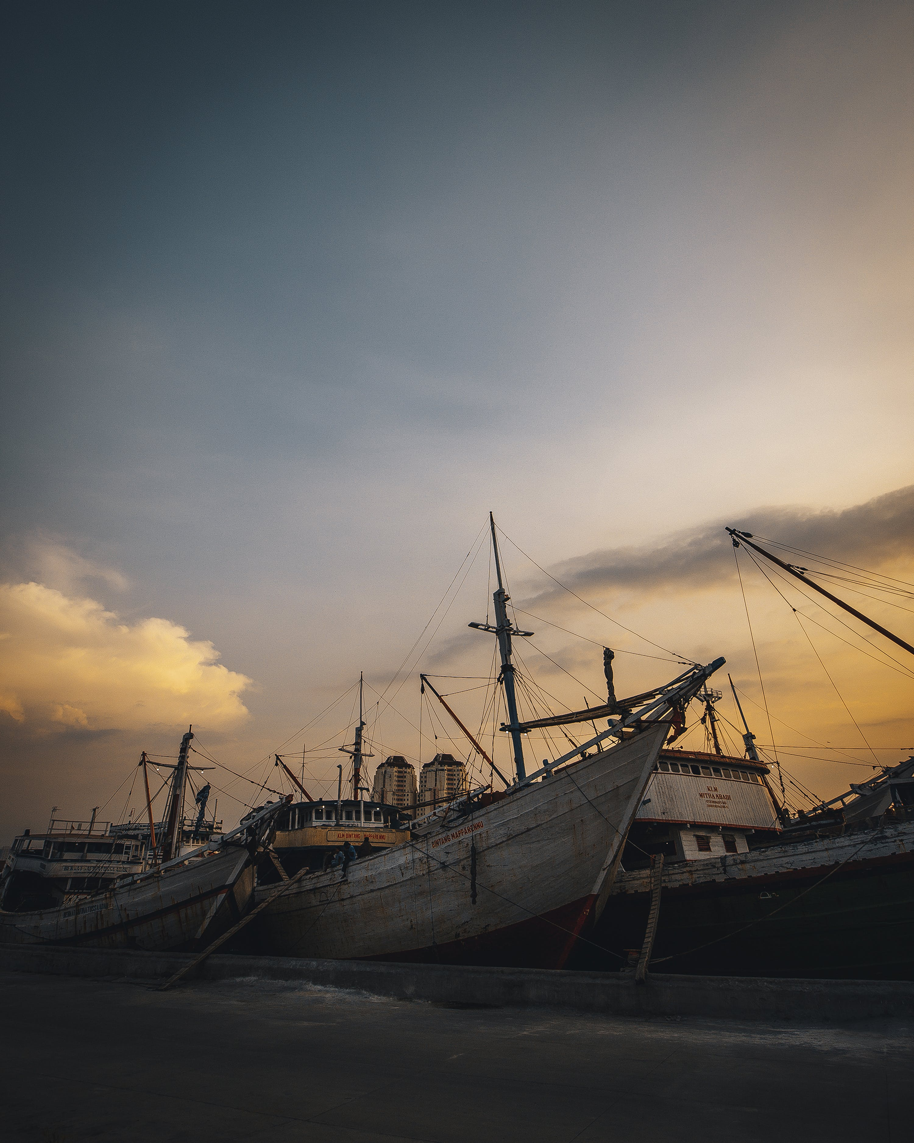 Photo of Boats During Dawn