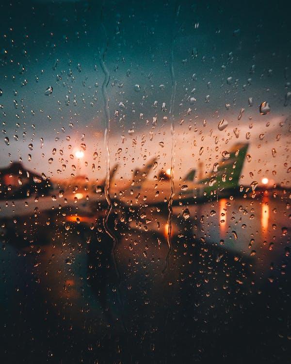 ciemny, krople, krople deszczu