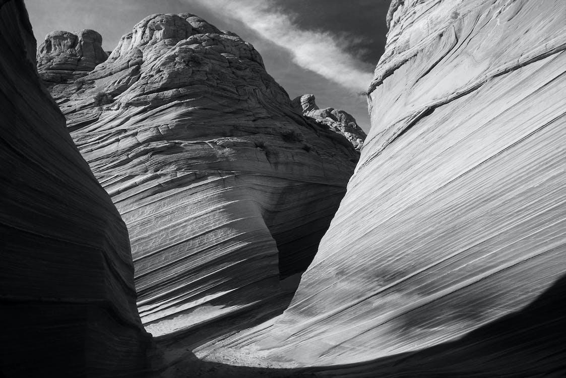 arenaria, bianco e nero, canyon
