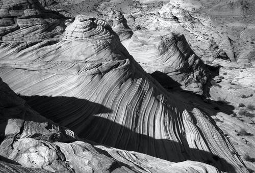 Grayscale of Grand Canyon