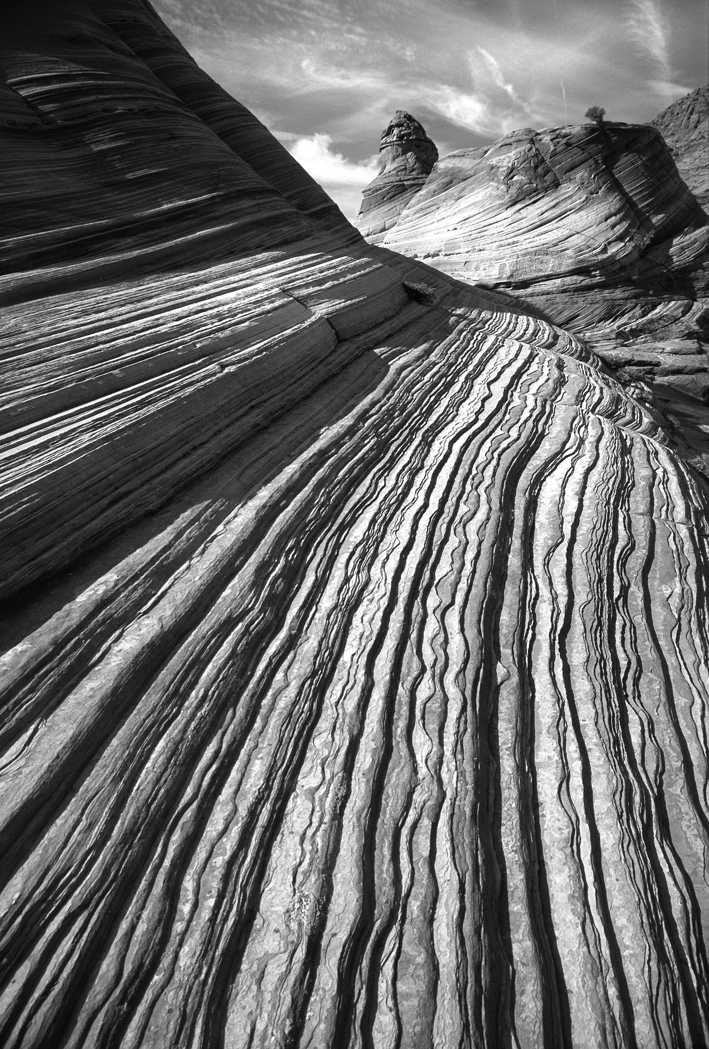 Δωρεάν στοκ φωτογραφιών με rock, ασπρόμαυρο, έρημος, μοτίβο