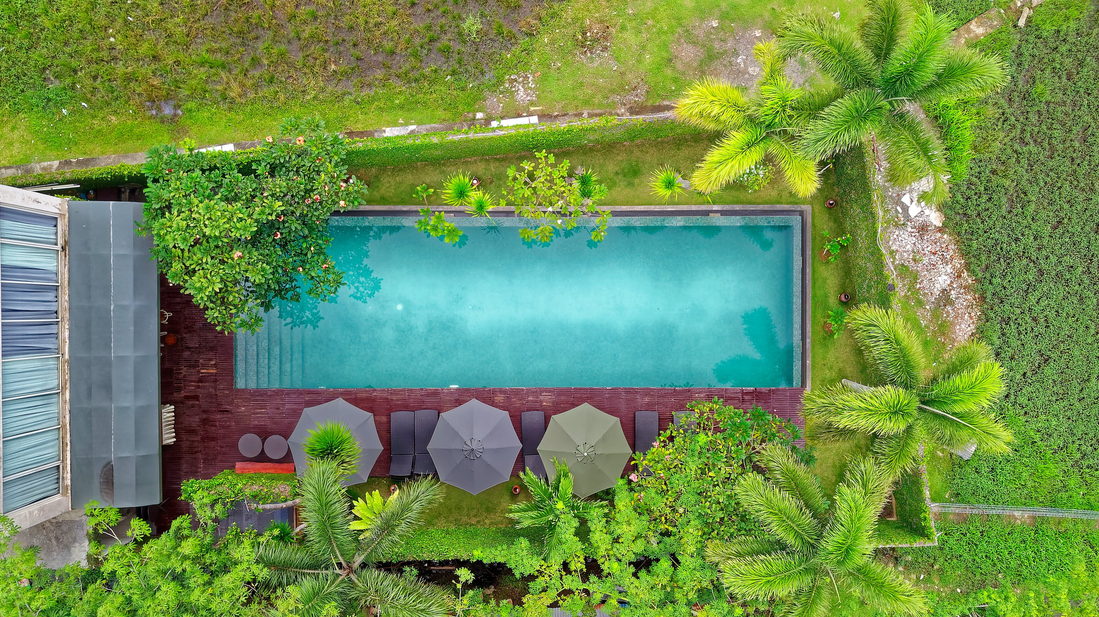 Bird's Eye View Photography Of Outdoor Pool