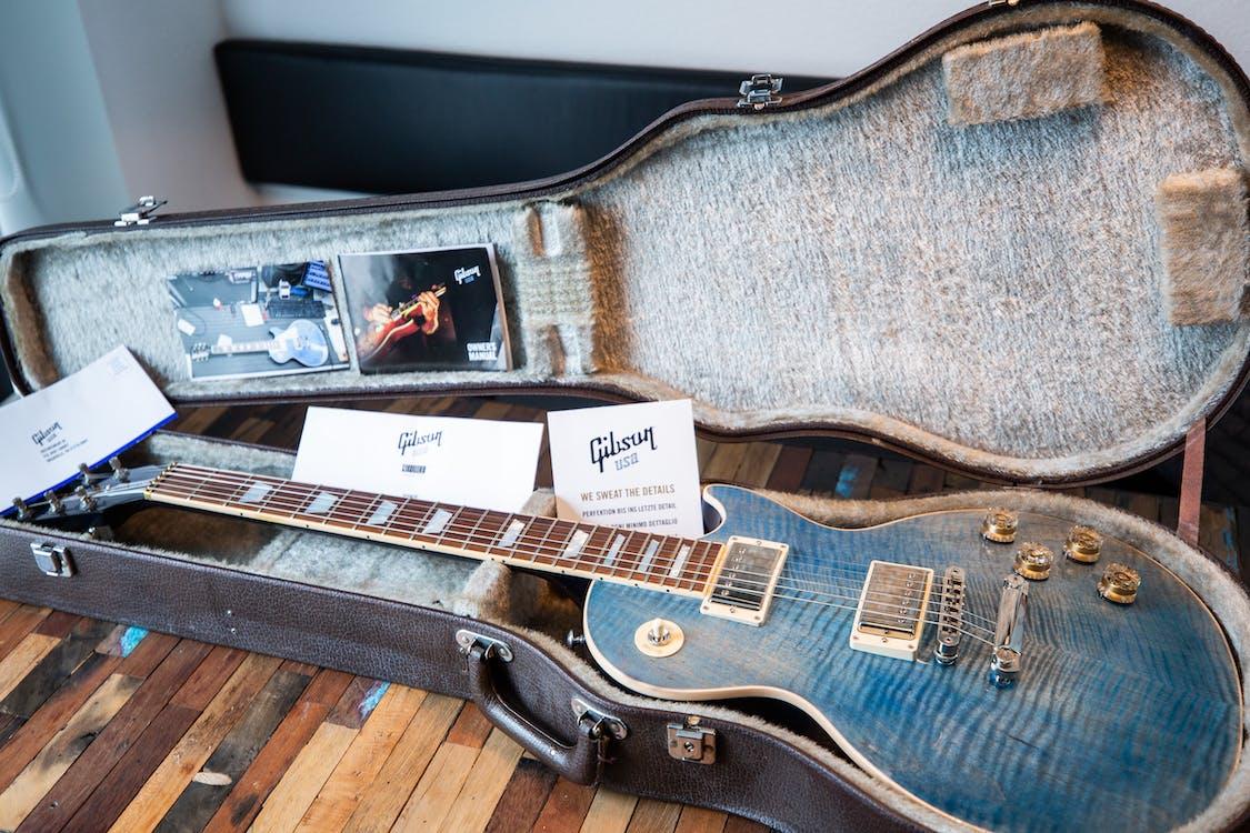 Blue Les Paul Electric Guitar In Case