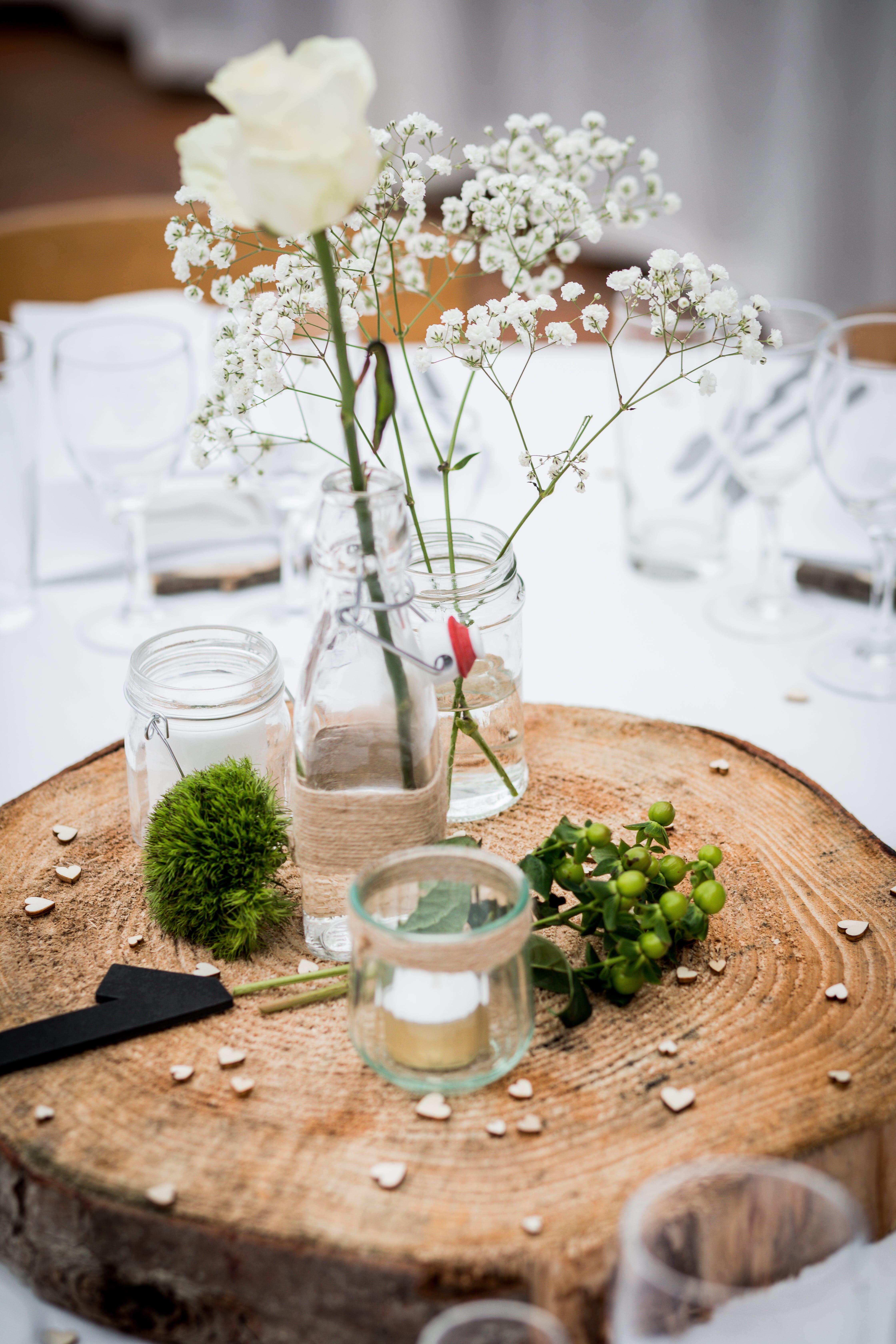 Kostnadsfri bild av blommor, burkar, glas, närbild