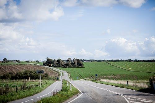 Gratis lagerfoto af afgrøde, agerjord, asfalt, bane