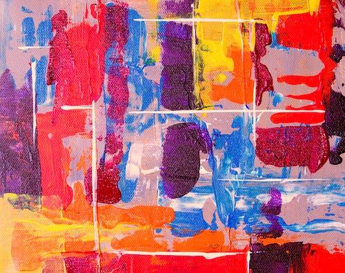 創作的, 塗料, 帆布, 抽象繪畫 的 免费素材照片