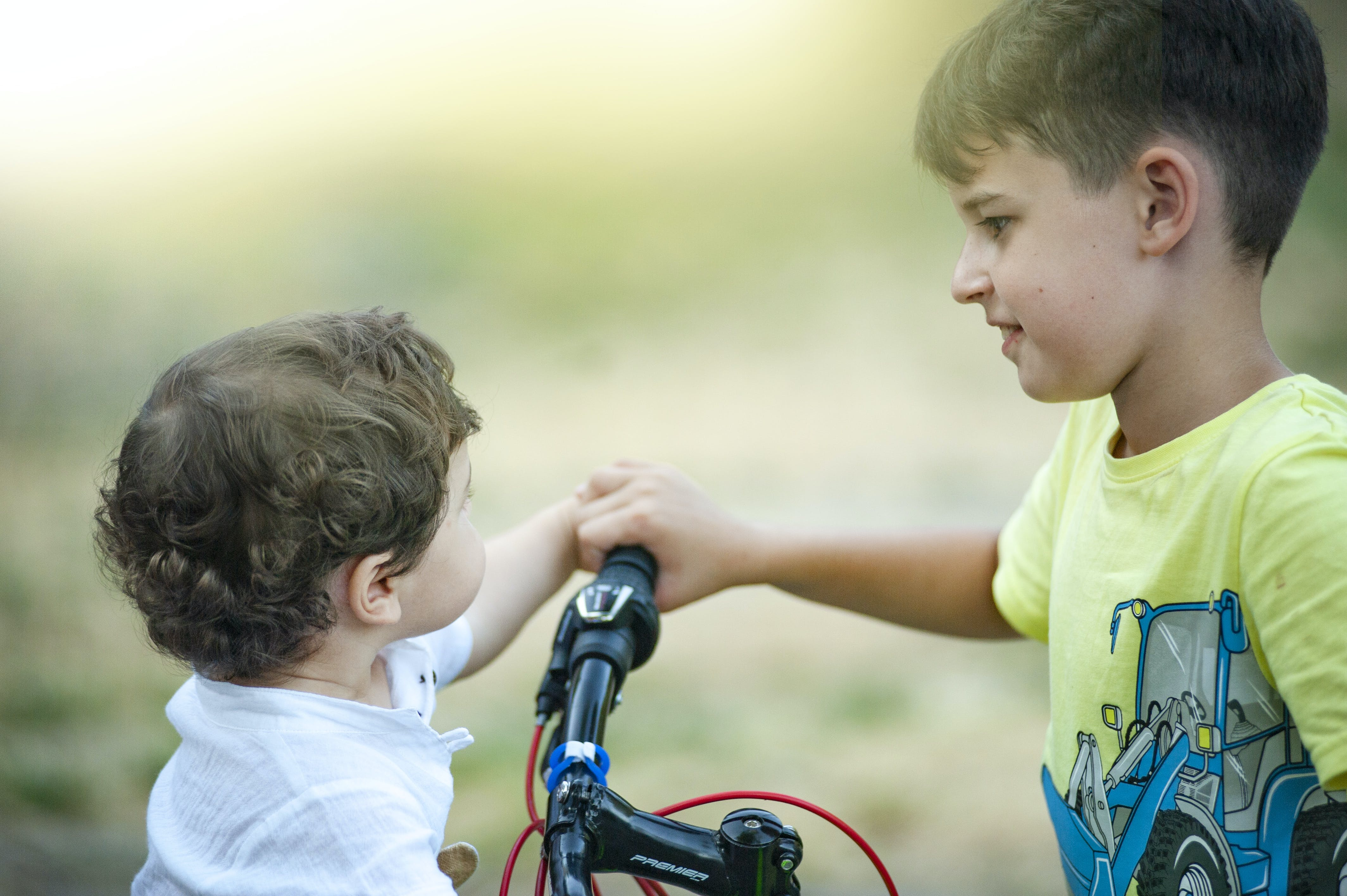 Free stock photo of baby, best friends, bicycle, brothers