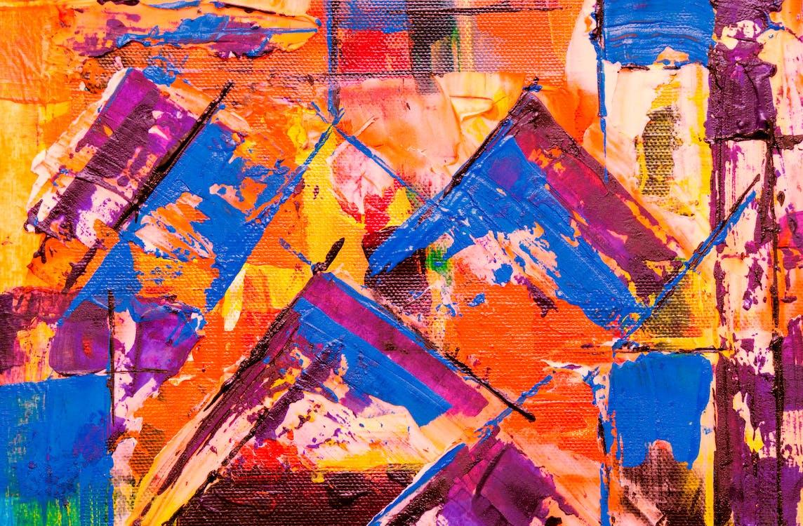 abstraktná maľba, abstraktný expresionizmus, akrylová farba