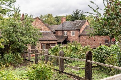 คลังภาพถ่ายฟรี ของ สวน, สวนอังกฤษ, อาคารเก่า