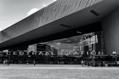 Grayscale Photography of Centraal Station
