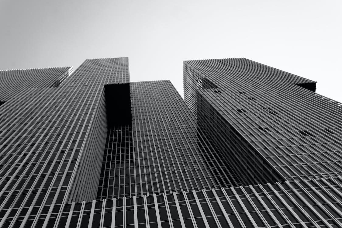 αντανάκλαση, αρχιτεκτονική, ασπρόμαυρο