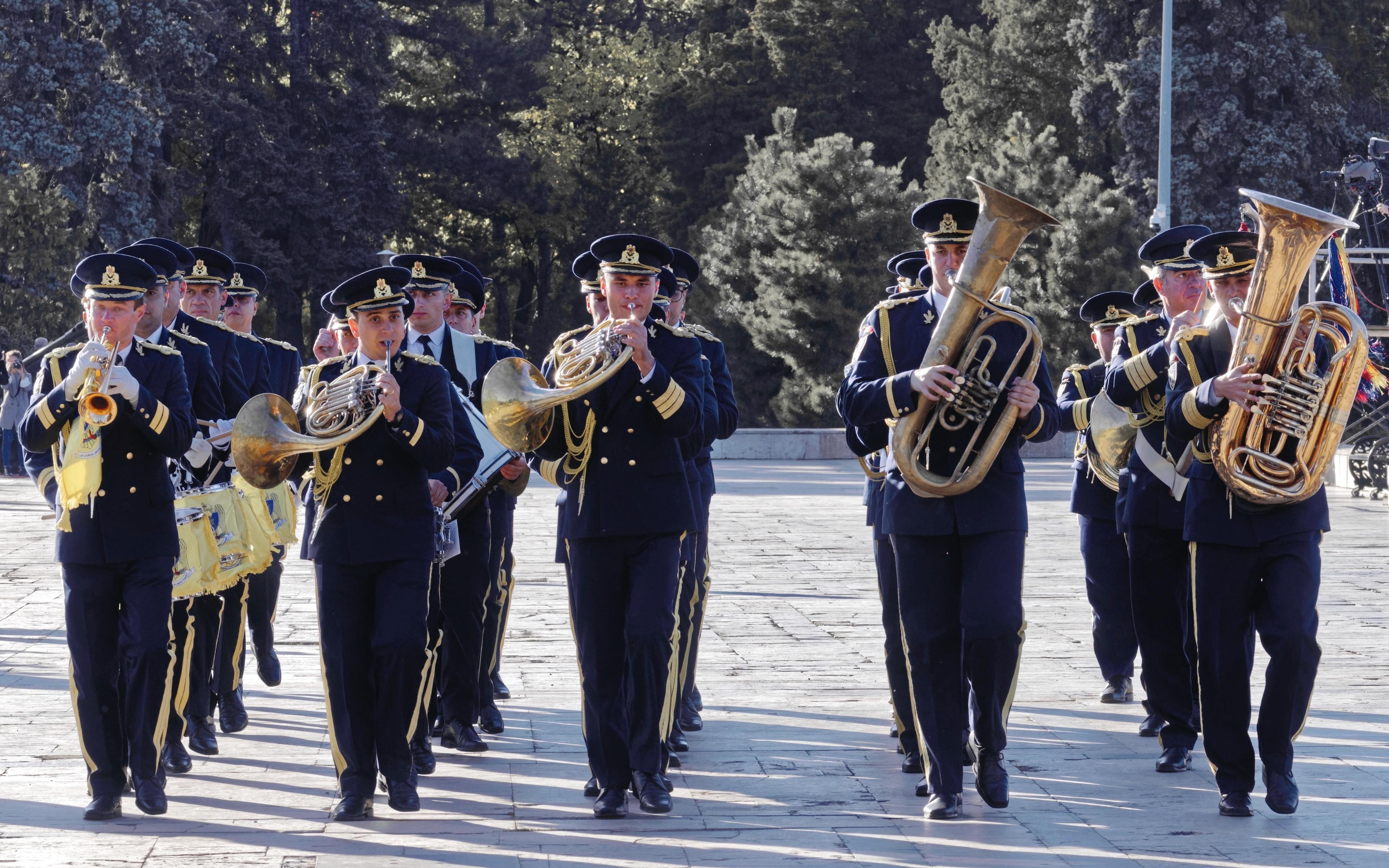 Free stock photo of men, military band, music