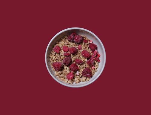 Free stock photo of bowl, burgundy, cereal