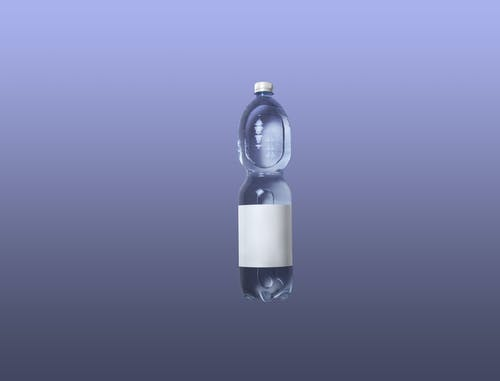 Clear Plastic Bottle With White Liquid