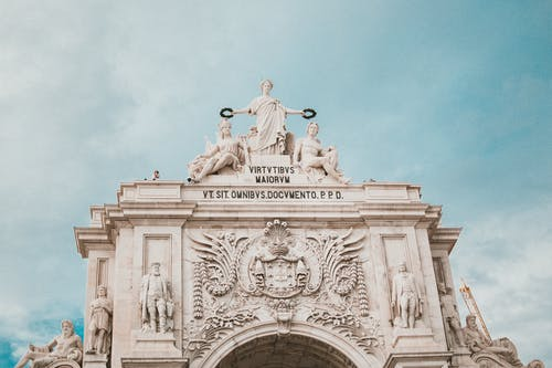 The Rua Augusta Arch in Lisbon