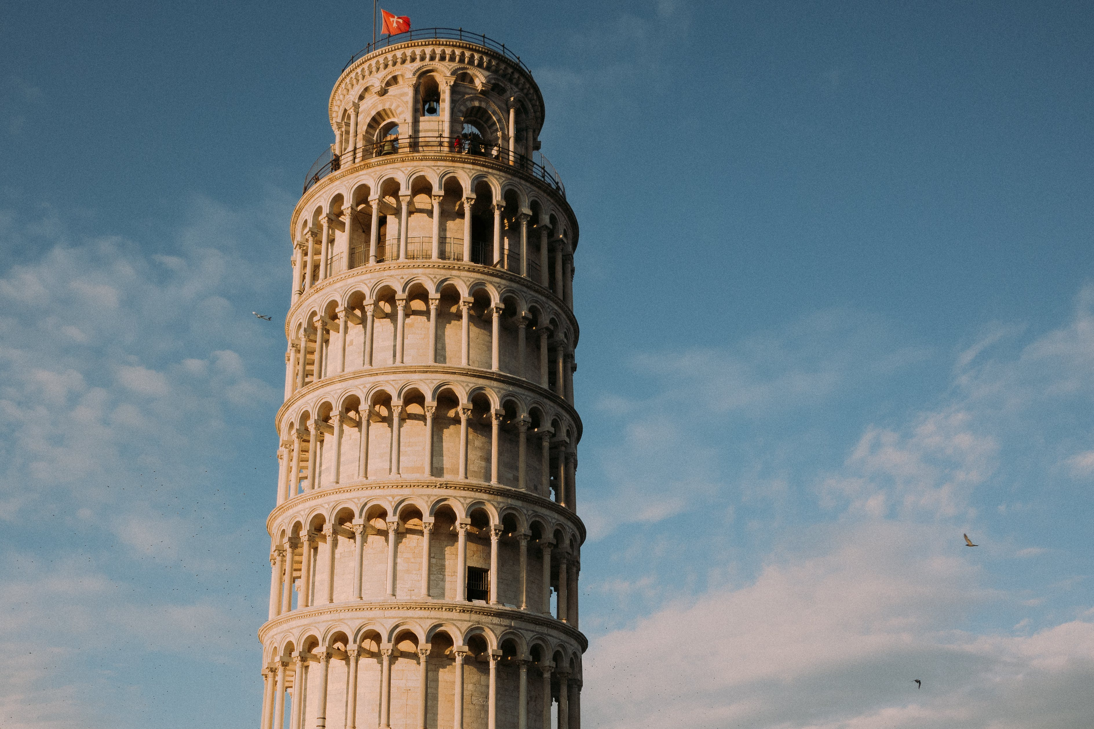 Leaning Tower Of Pisa Under Blue Sky