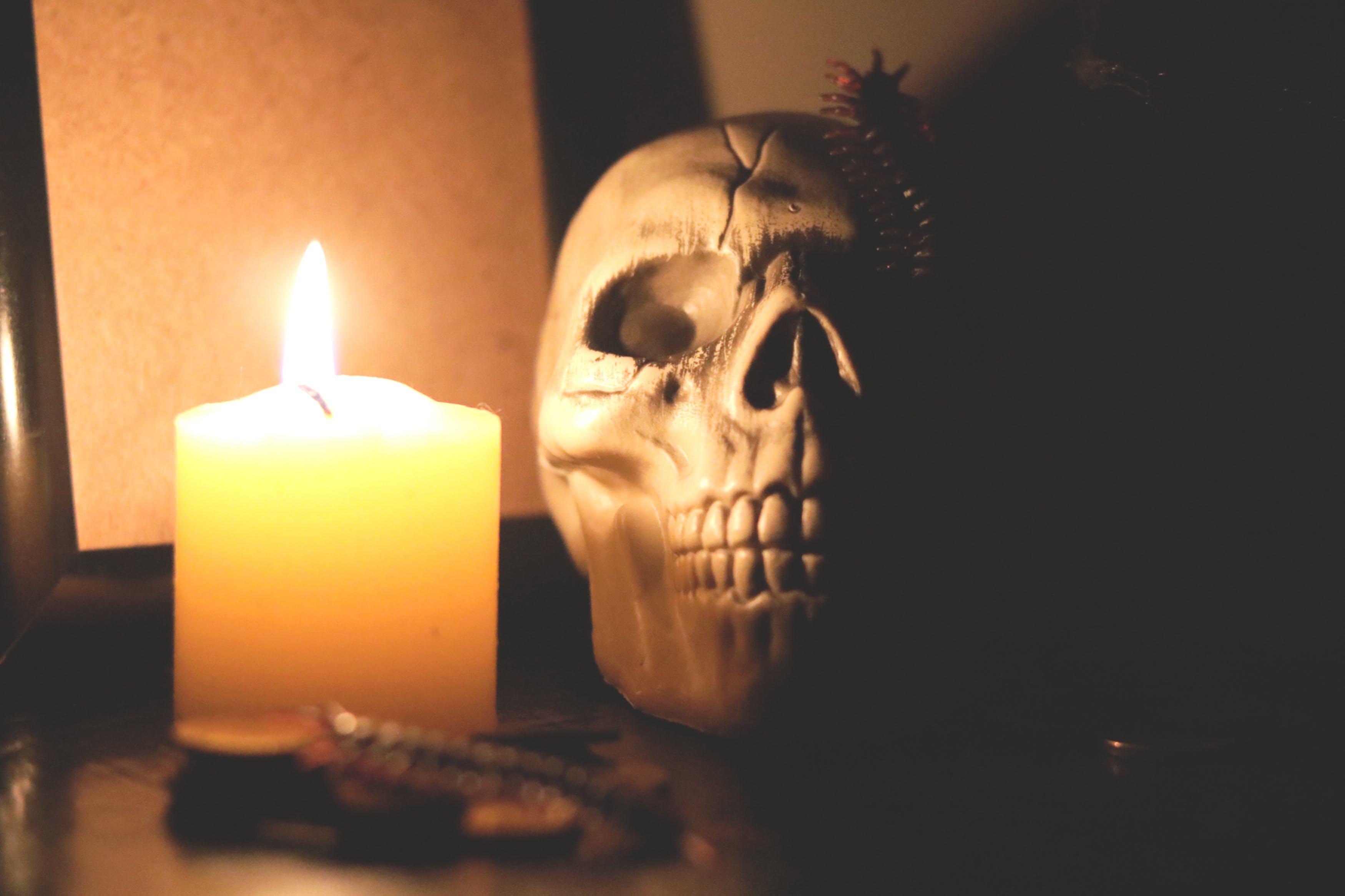 Kostenloses Stock Foto zu halloween, halloween party, horror, kerzenlicht