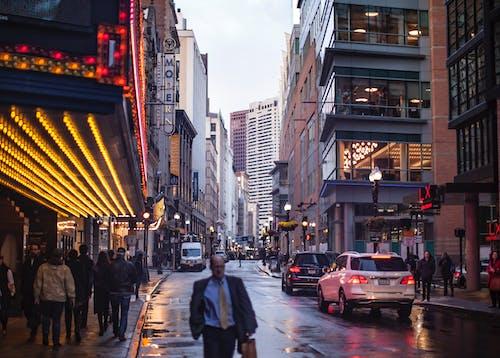Imagine de stoc gratuită din boston, lumini de neon, luminile orașului, viață de oraș