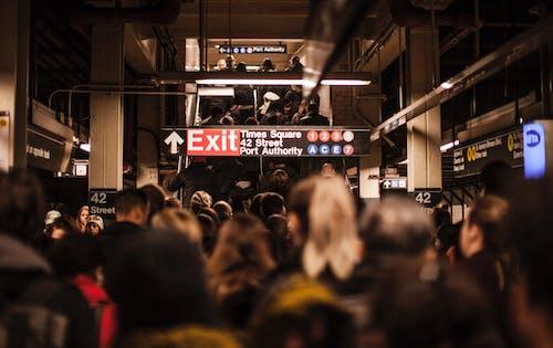 Imagine de stoc gratuită din mulțimile, NYC, platformă de metrou