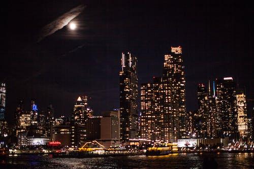 Imagine de stoc gratuită din centrul orașului, cer de noapte, gotham, wallpaper new york