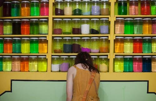 คลังภาพถ่ายฟรี ของ ขวดโหล, ตลาด, สี, สีเหลือง