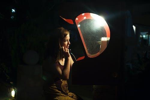 คลังภาพถ่ายฟรี ของ สว่าง, สีแดง, โทรศัพท์สาธารณะ