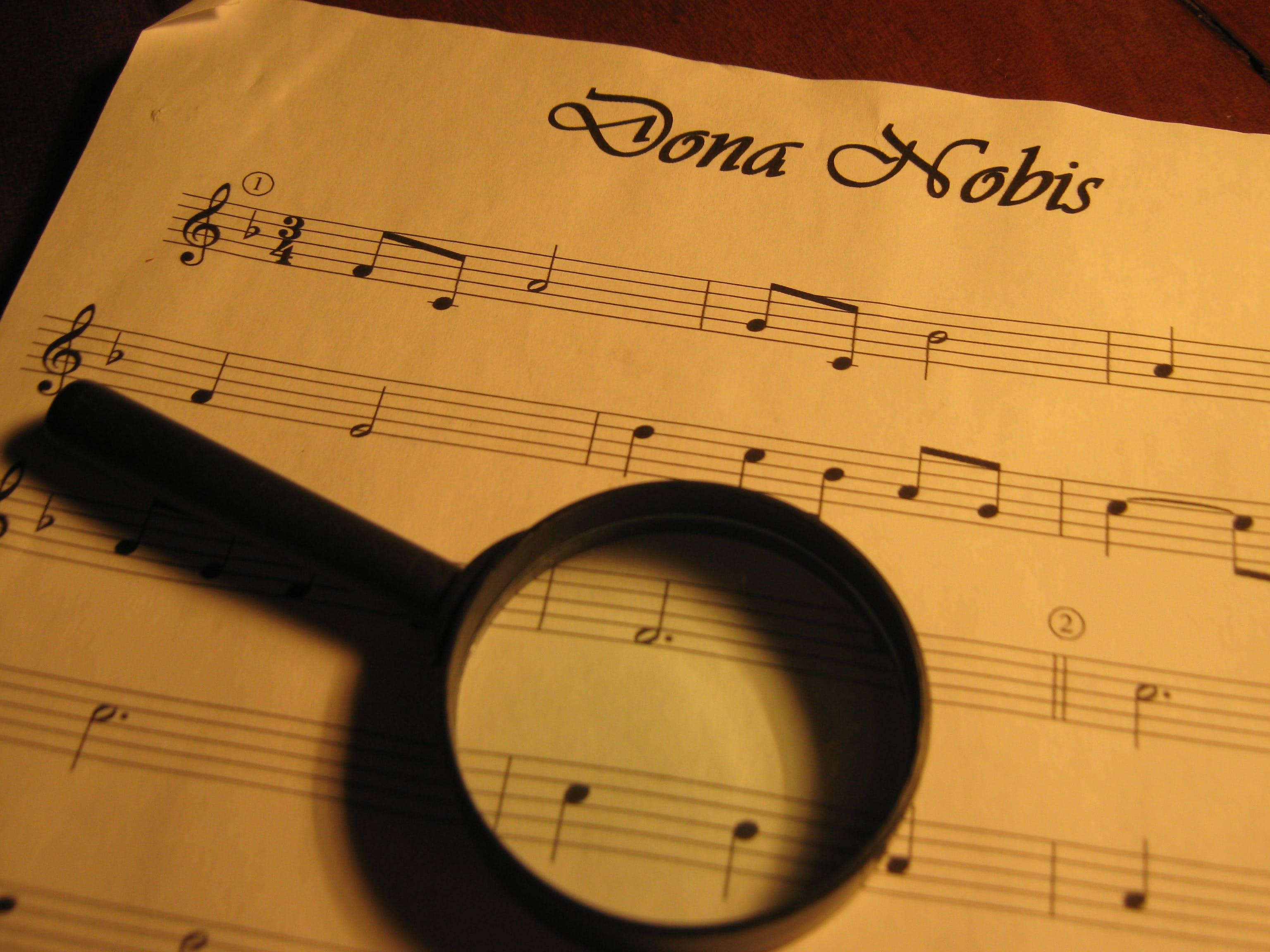 Free stock photo of music, music notations, musica, partitura
