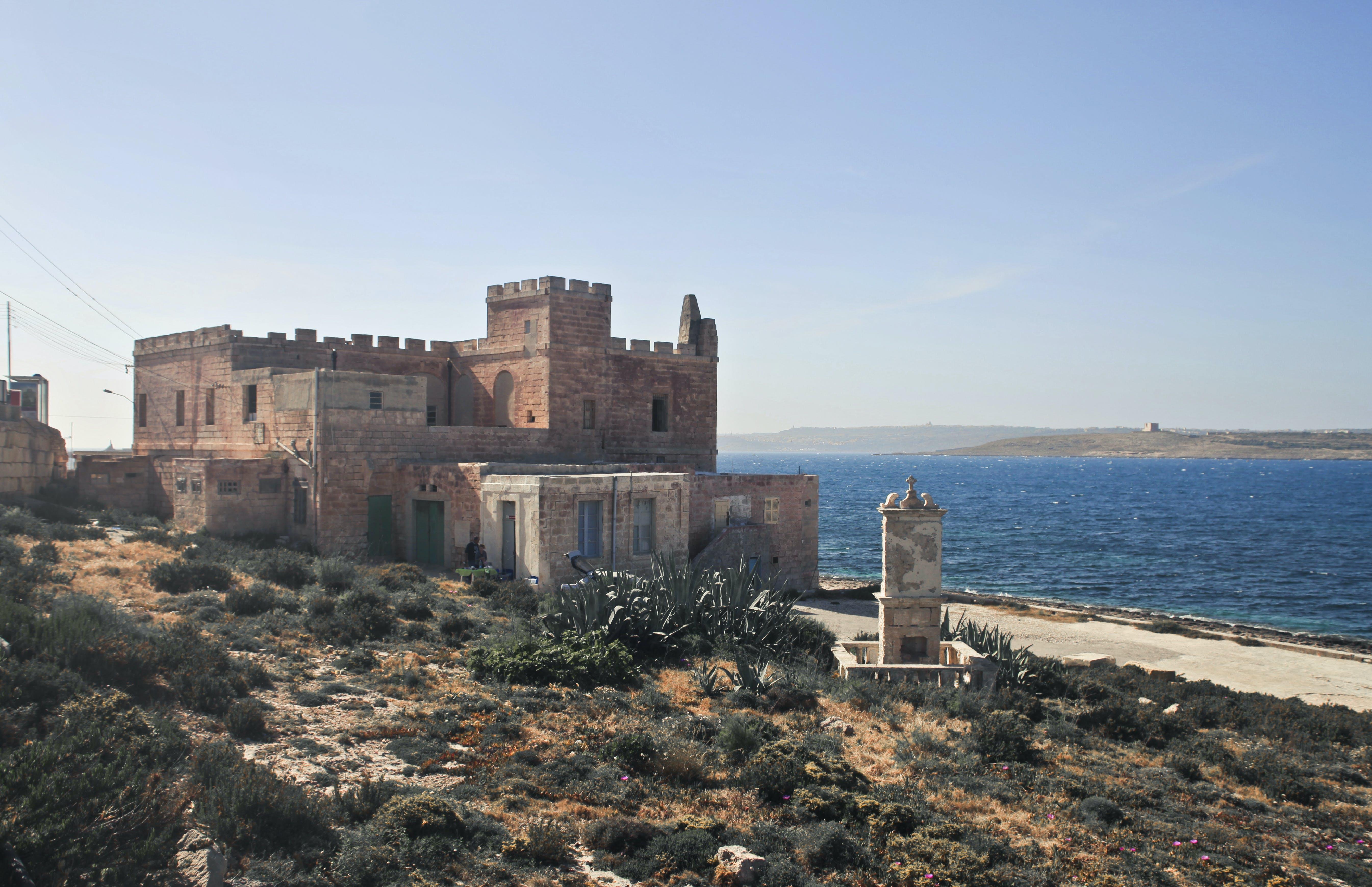 burg, landschaft, malta
