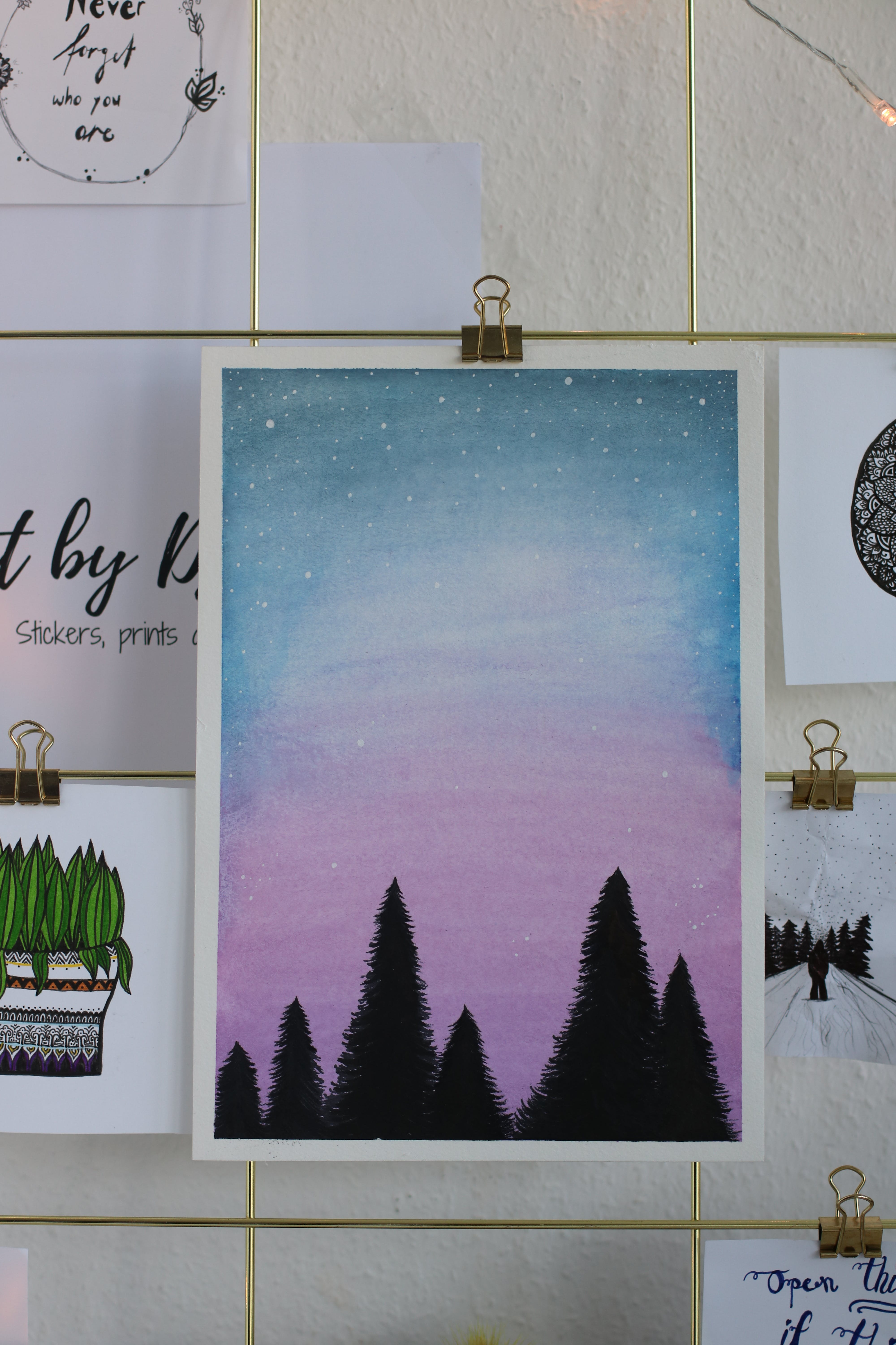 Free stock photo of fir, firs, forest, galaxy
