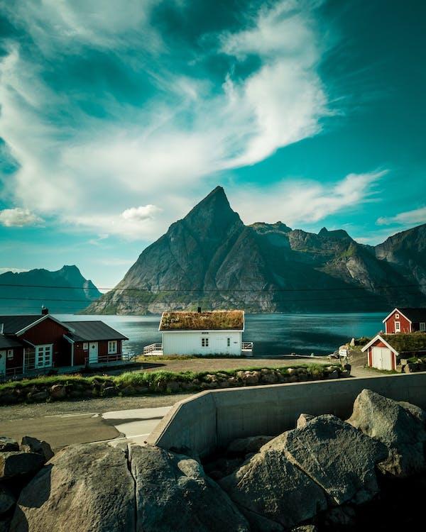 경치, 노르웨이, 로 포텐