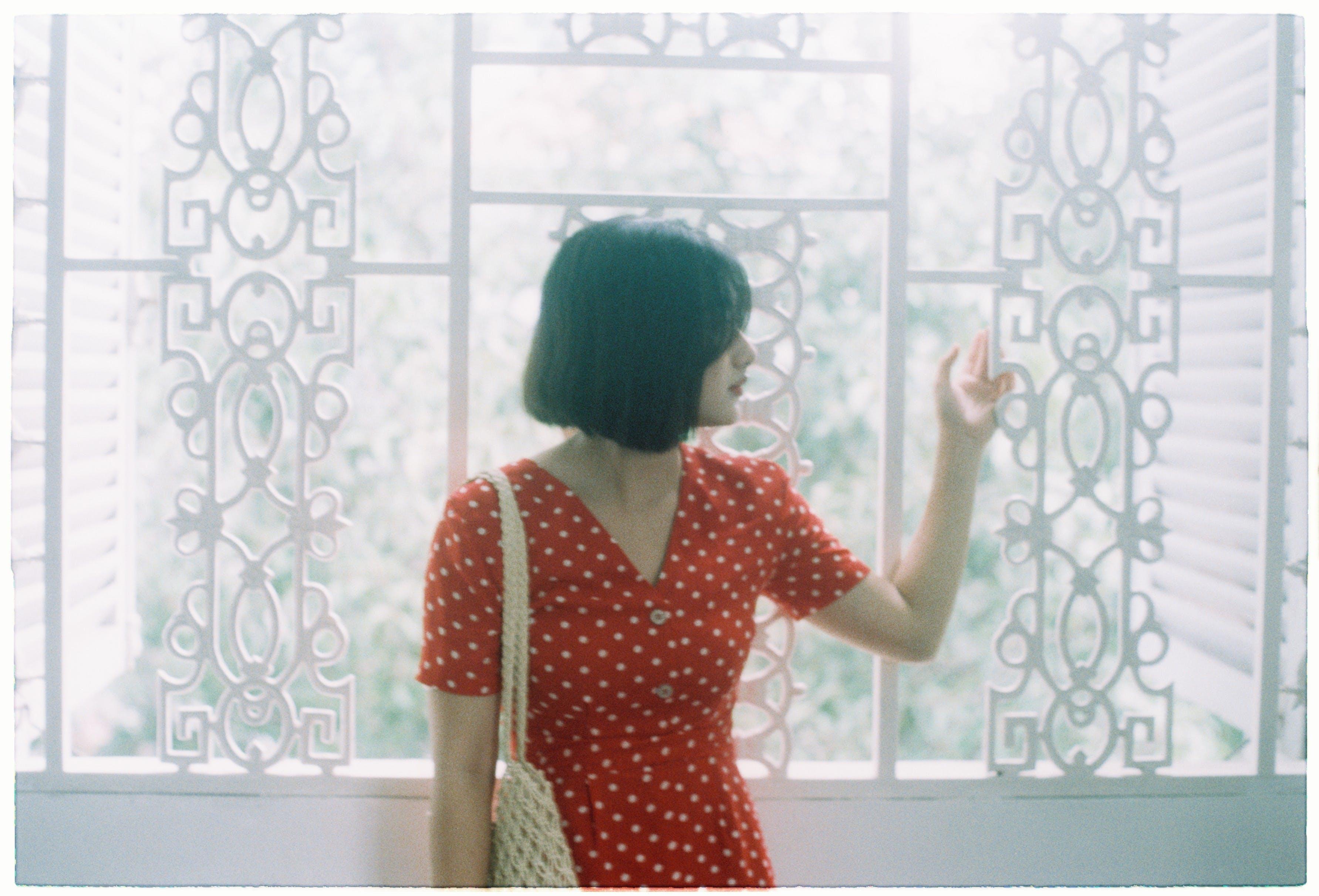 Free stock photo of girl, window, film, lovely