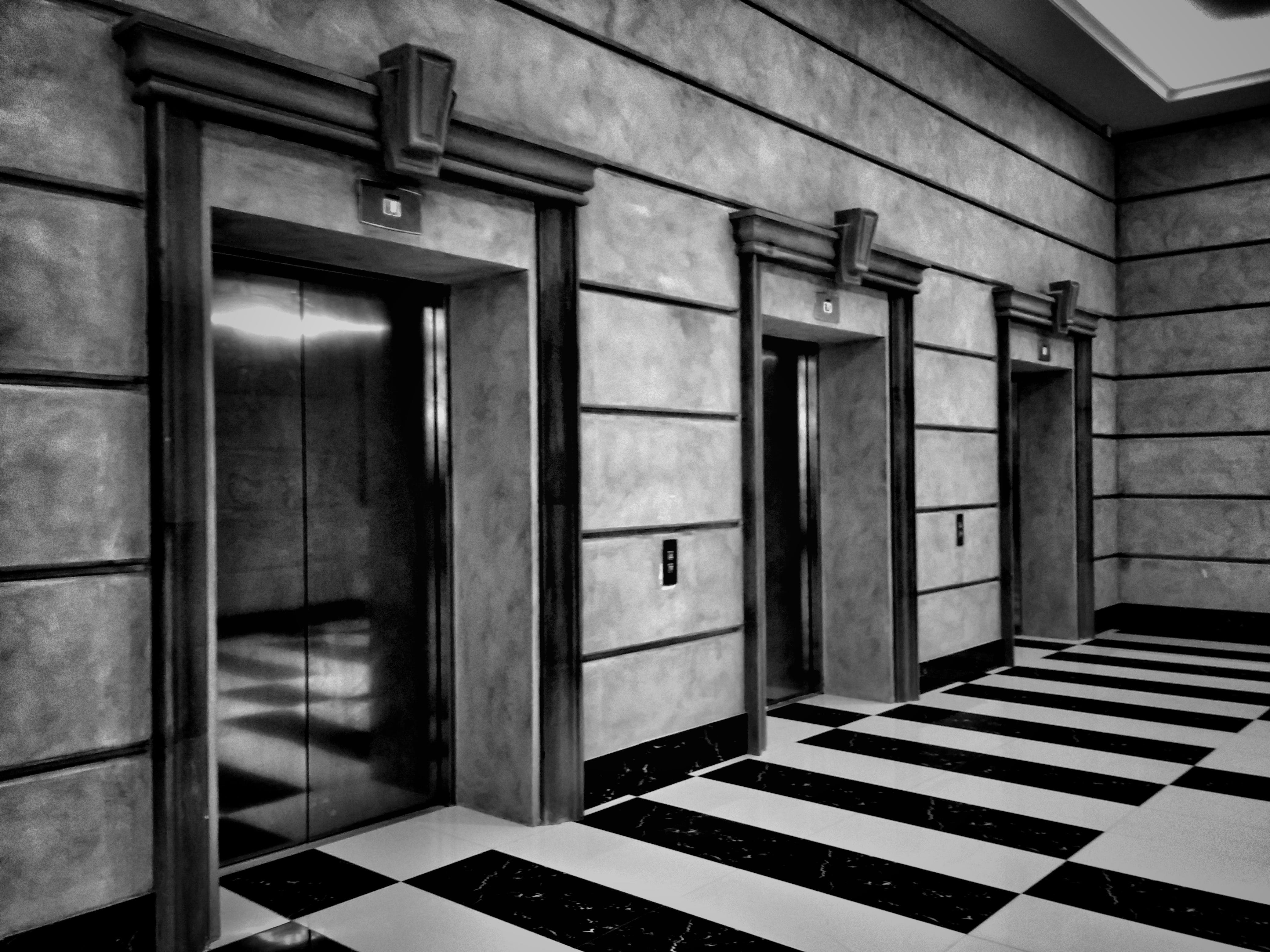 Free stock photo of black and white, buttons, bw, elevators