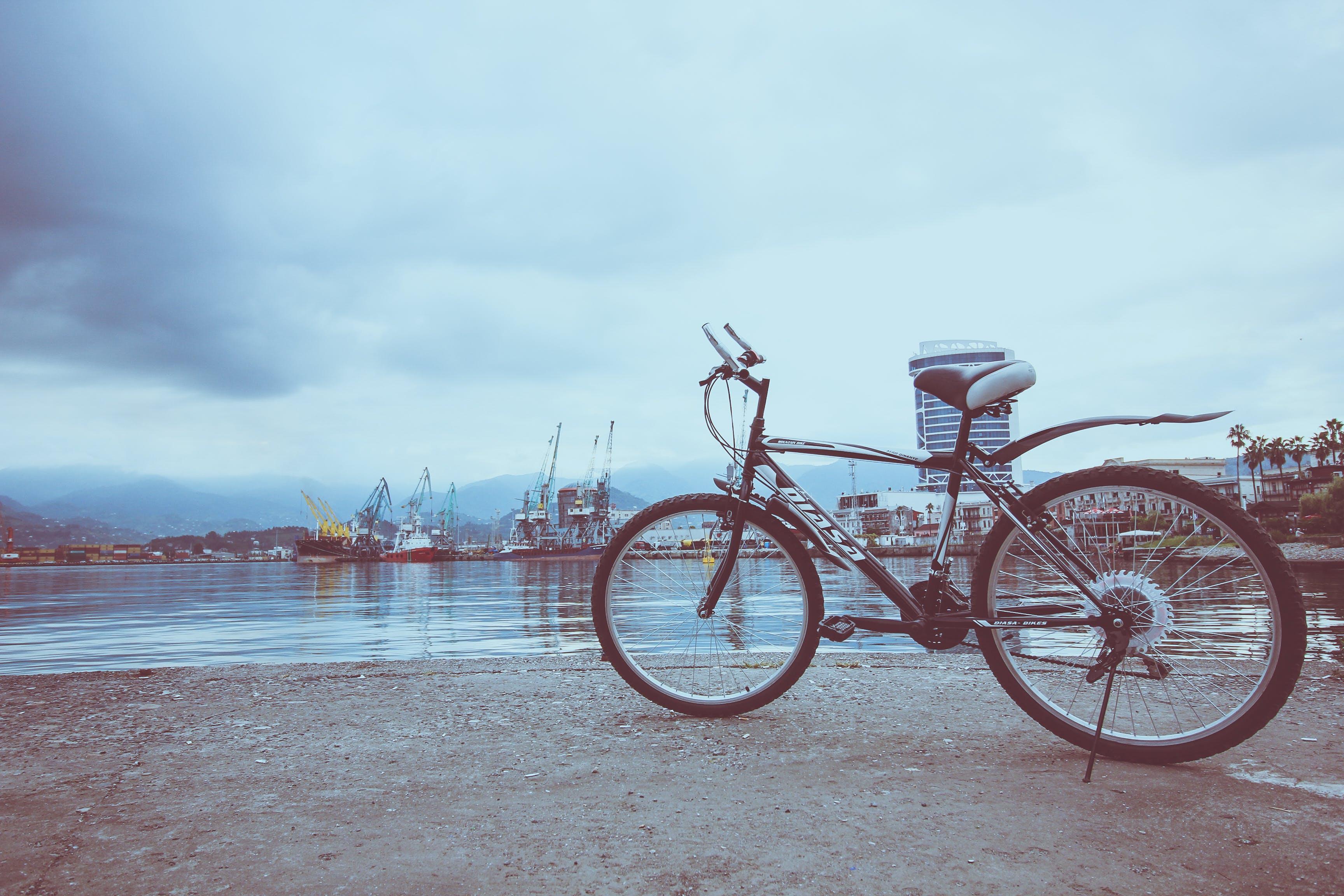 Black Bicycle Near Water