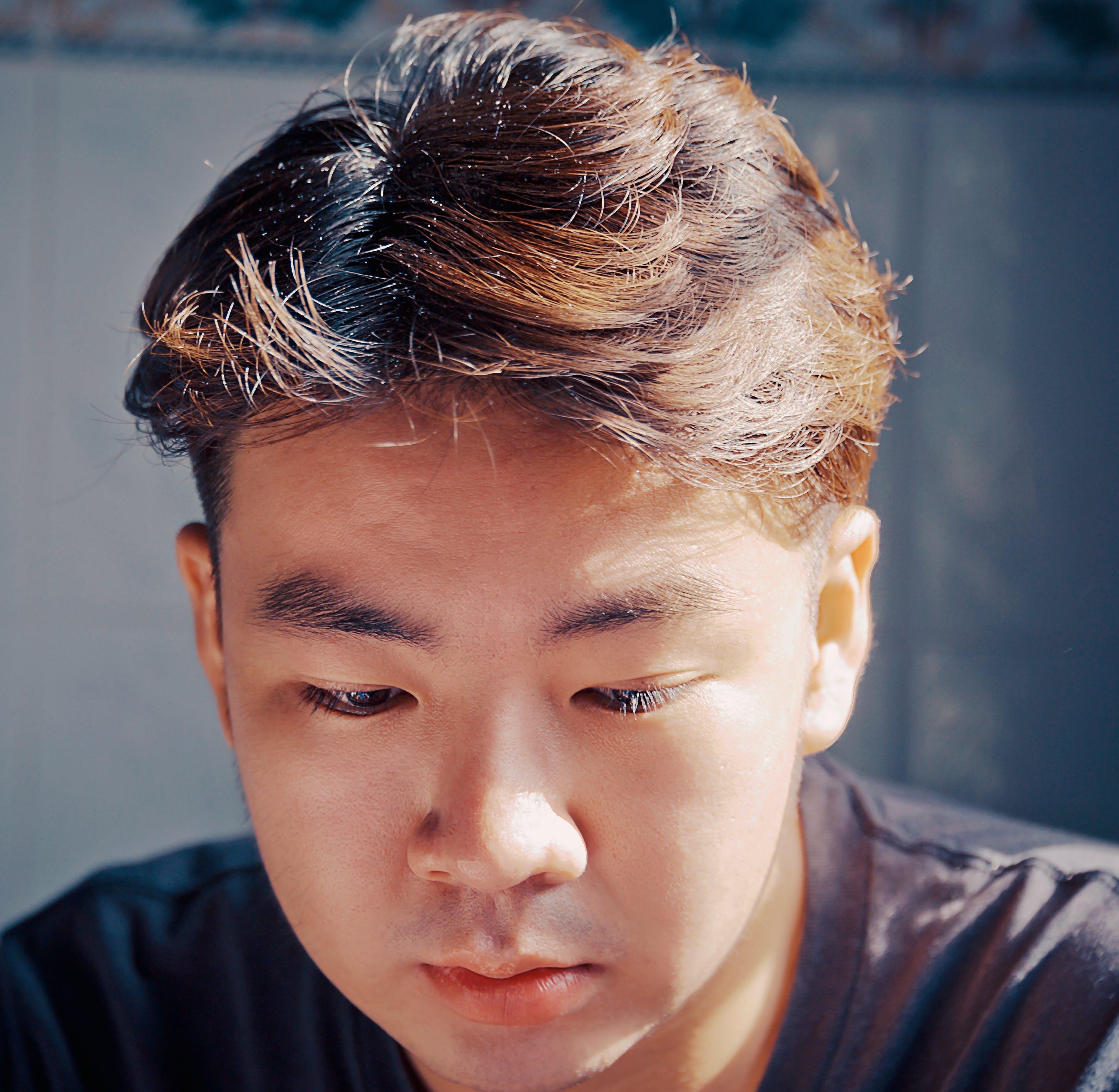 Man Wearing Black Top