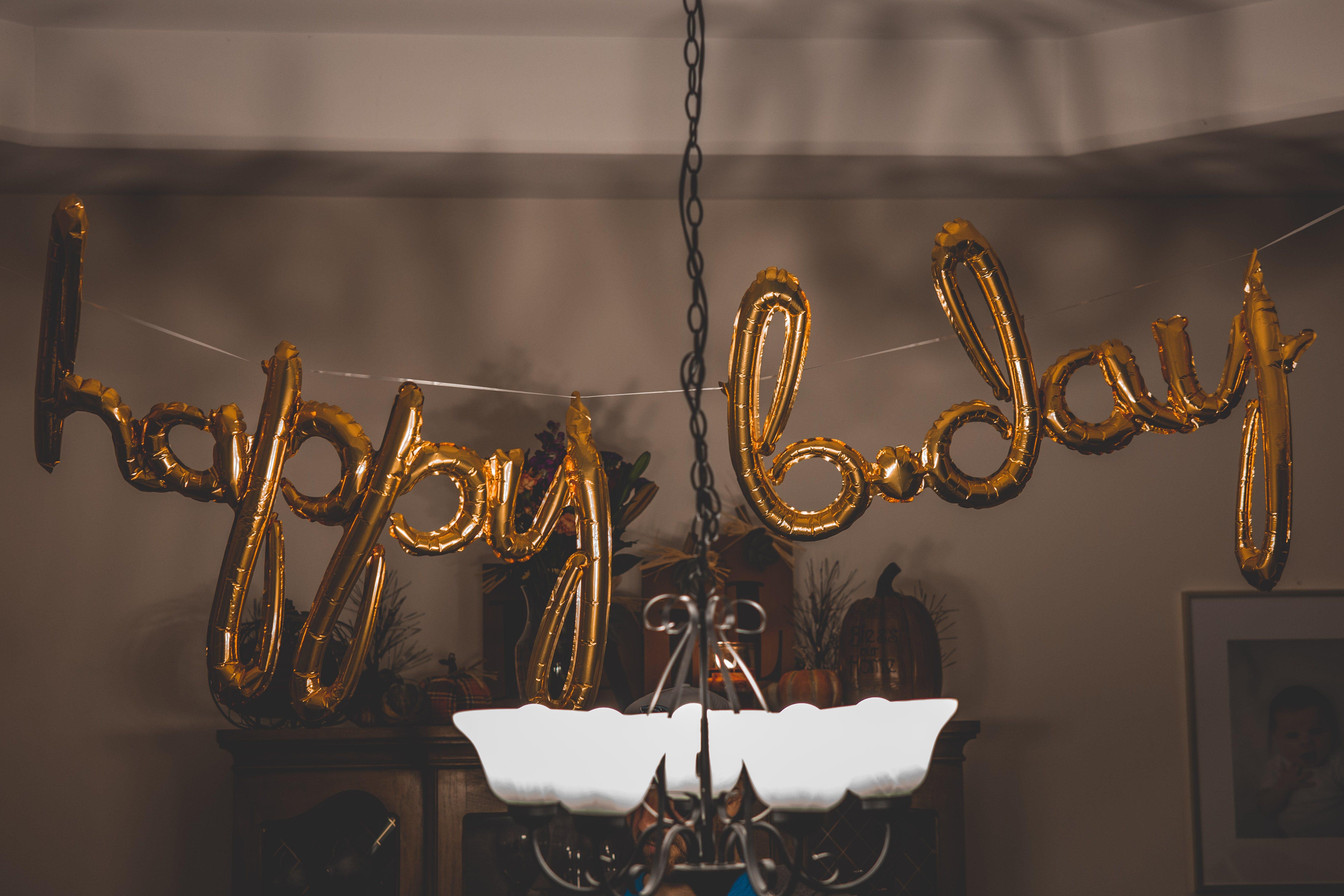 Happy B.day Balloon Wall Decors