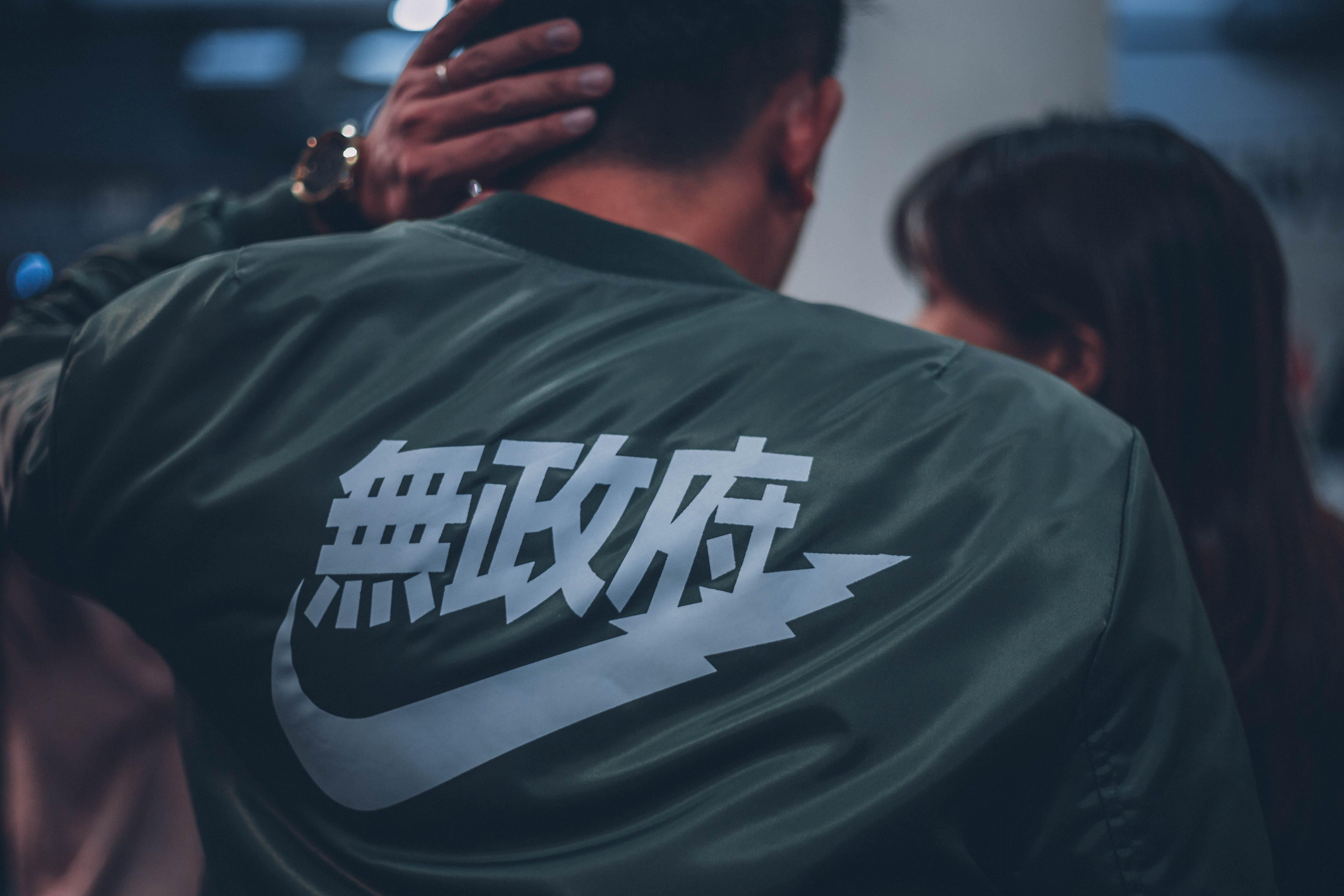 asiatisk, folk, grøn