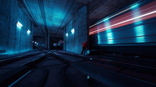 antrenman yaptırmak, bakış açısı, bulanıklık, demir yolu içeren Ücretsiz stok fotoğraf