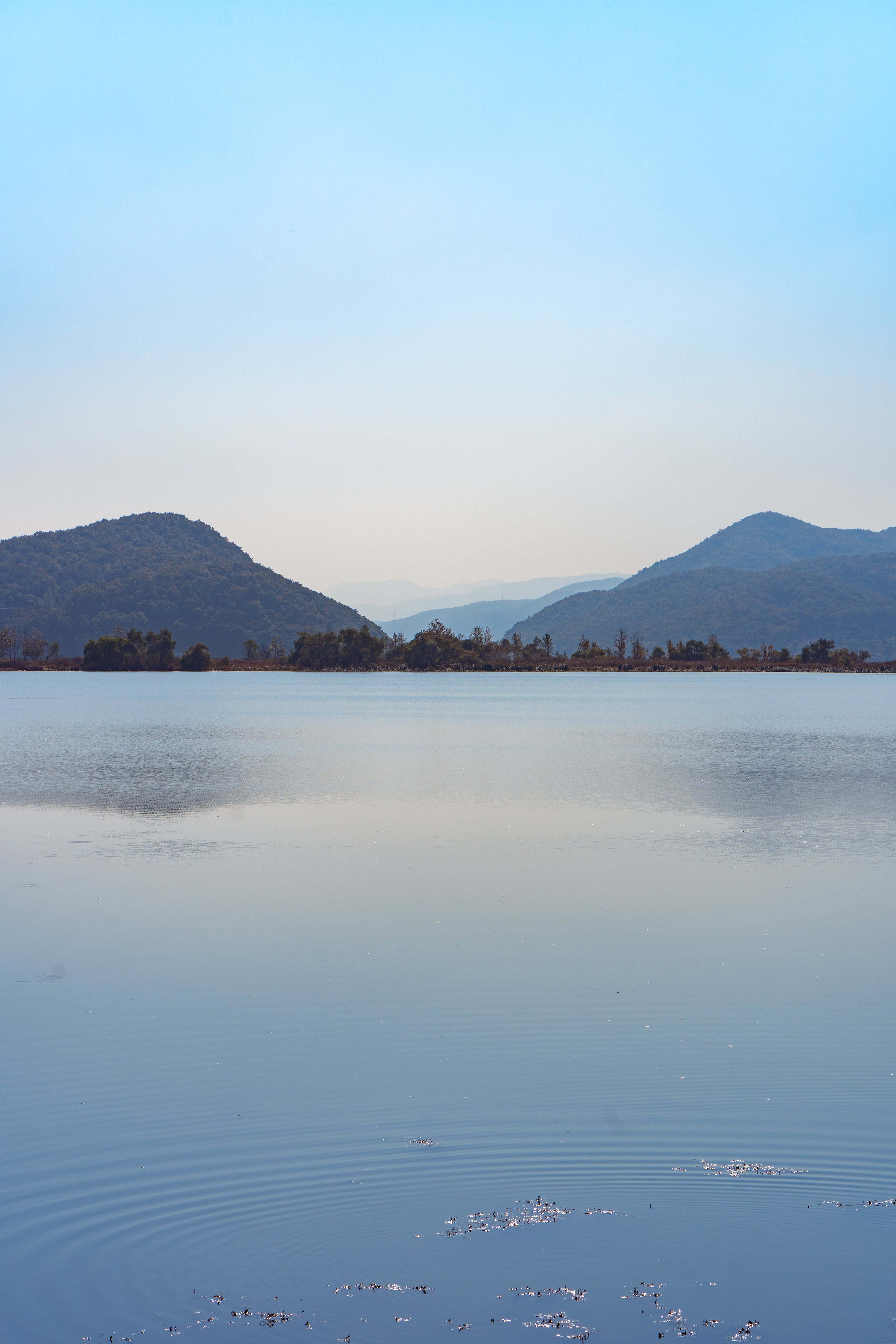 Lake with Mountains in Background