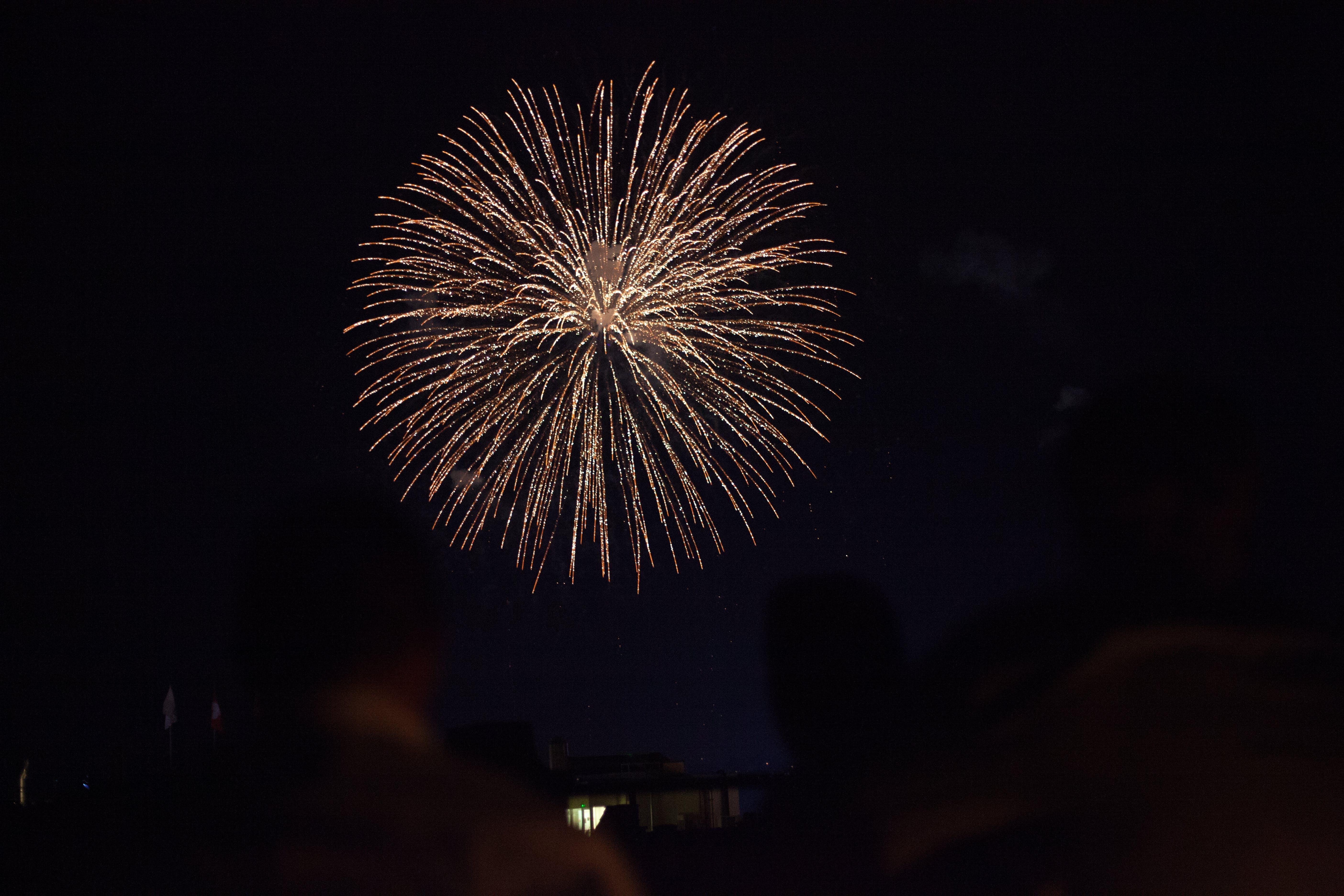 Fotobanka sbezplatnými fotkami na tému festival, nočný čas, ohňostroje, oslava