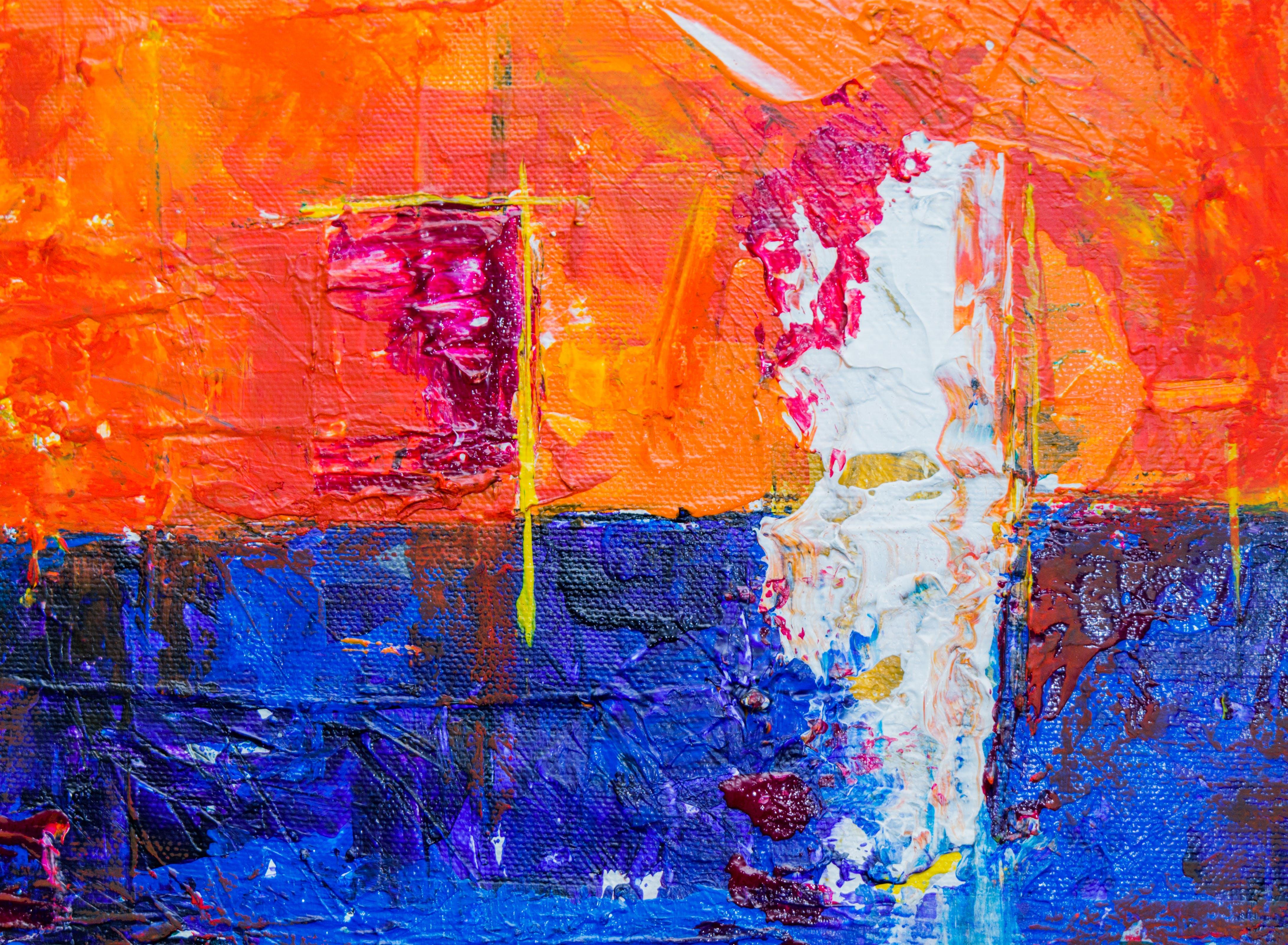 Darmowe zdjęcie z galerii z abstrakcyjny ekspresjonizm, artystyczny, farba, farba akrylowa