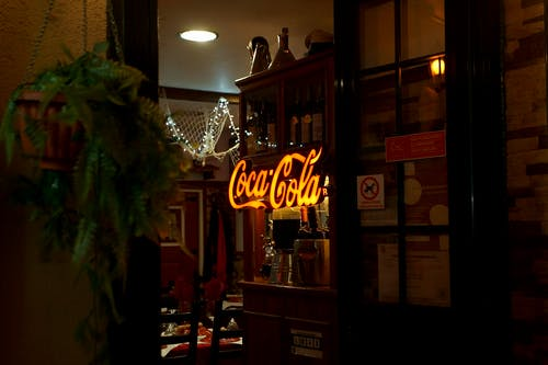 Lighted Coca-cola Signage