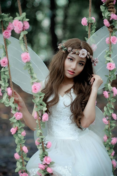 Безкоштовне стокове фото на тему «весілля, Вибірковий фокус, вираз обличчя, вінок»