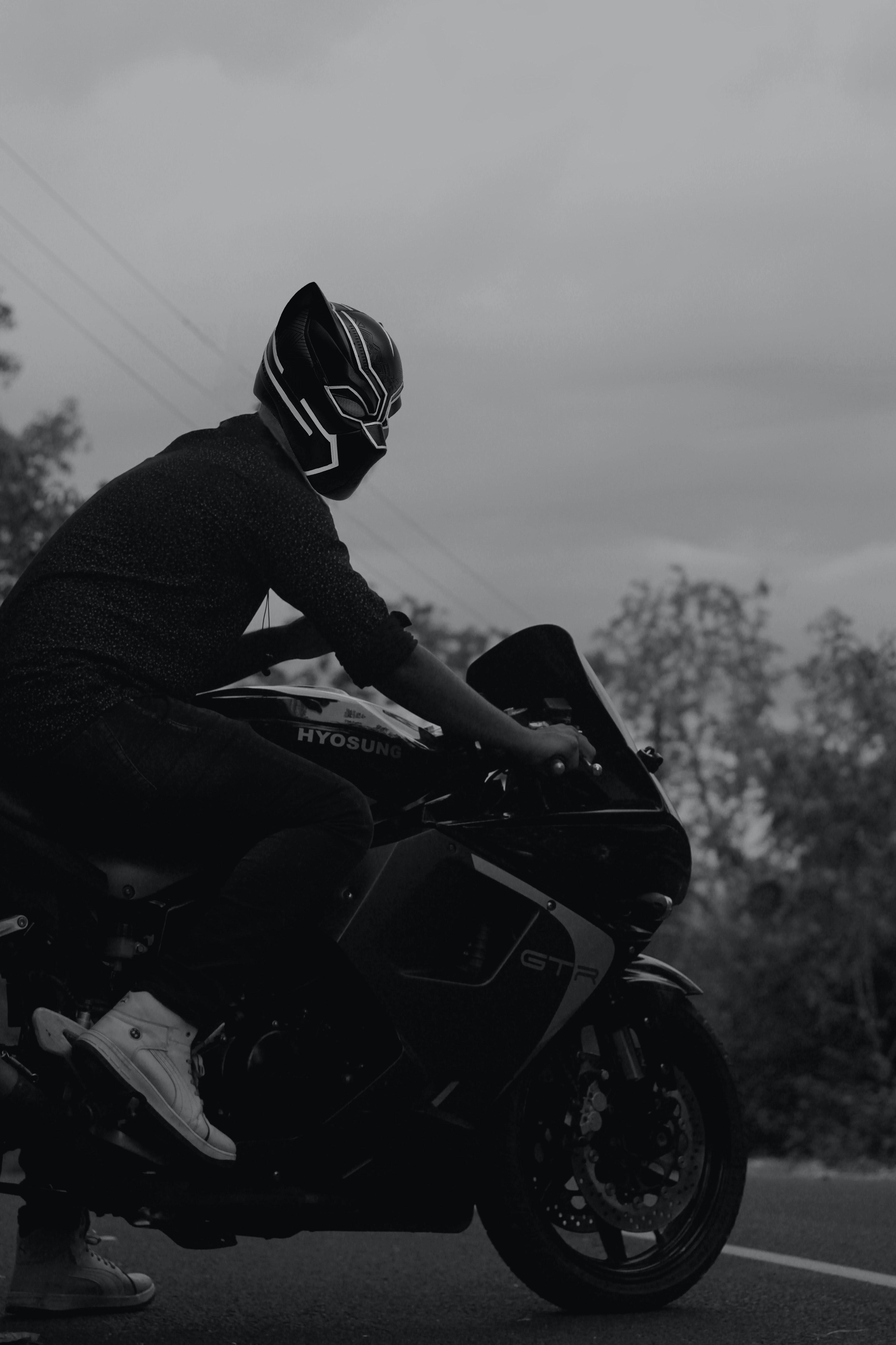 Free Stock Photo Of Bike Rider Black Panther Motorbikes