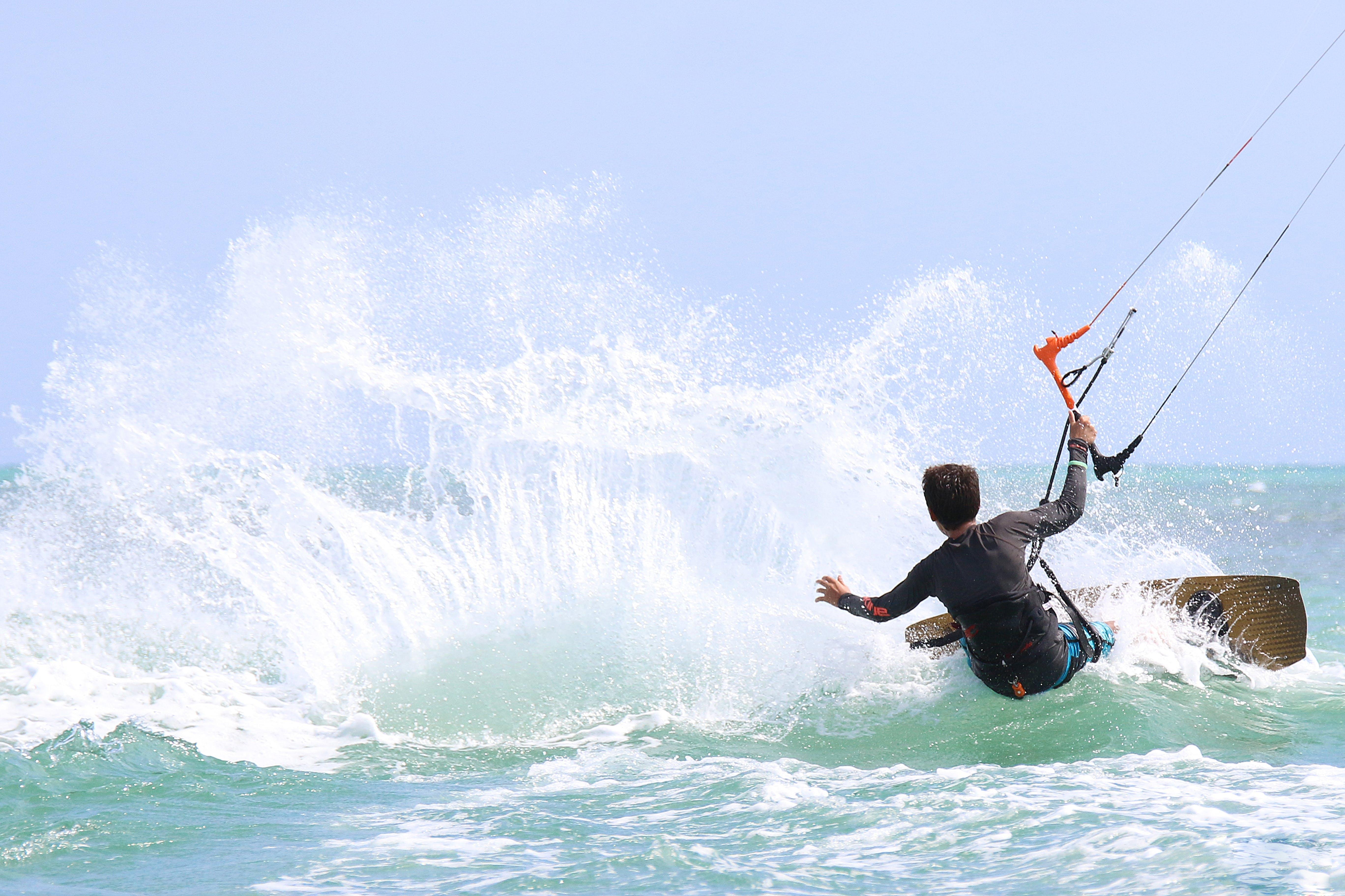 Man Performing Wakeboarding