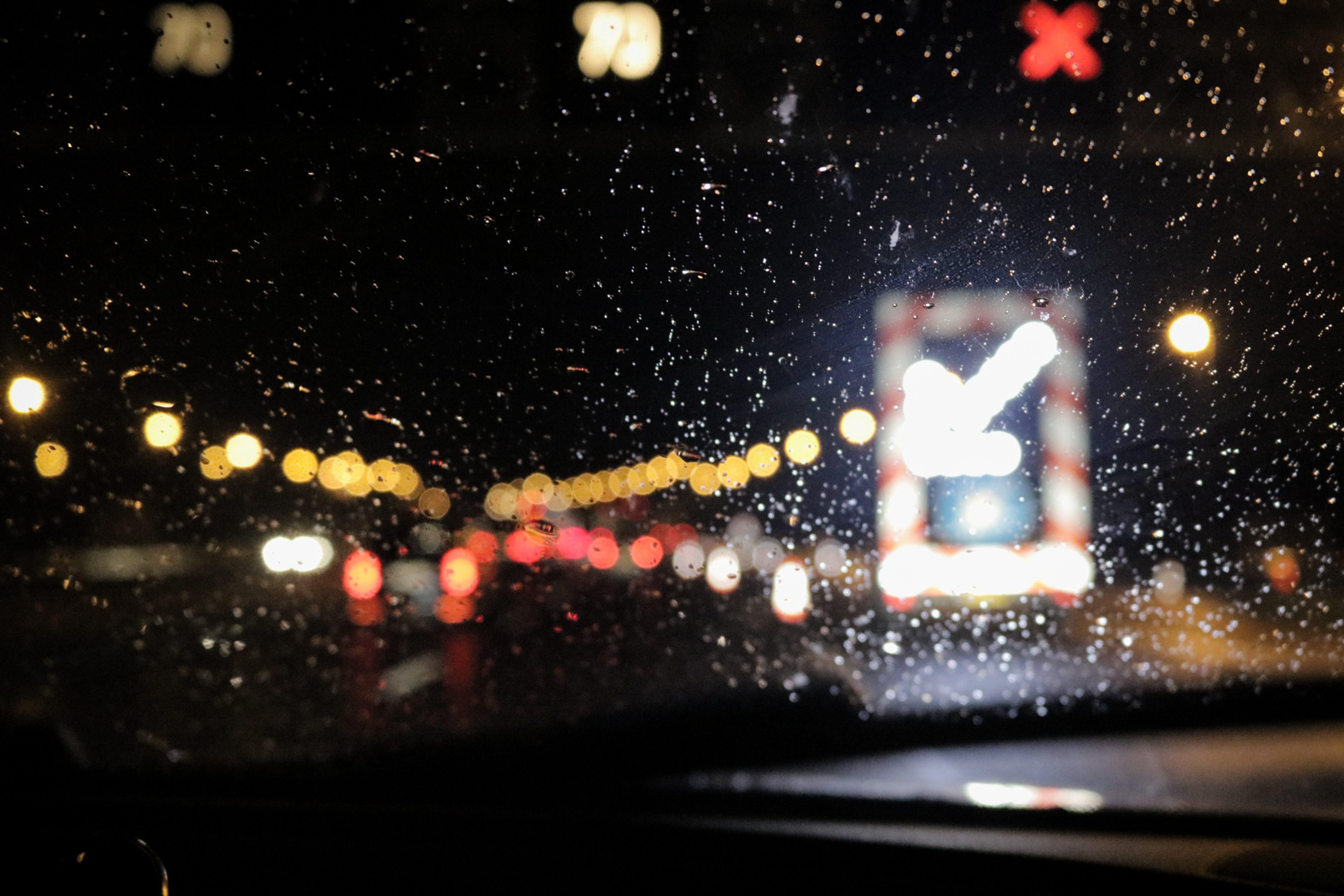 zu autobahn, autos, beleuchtung, dunkel