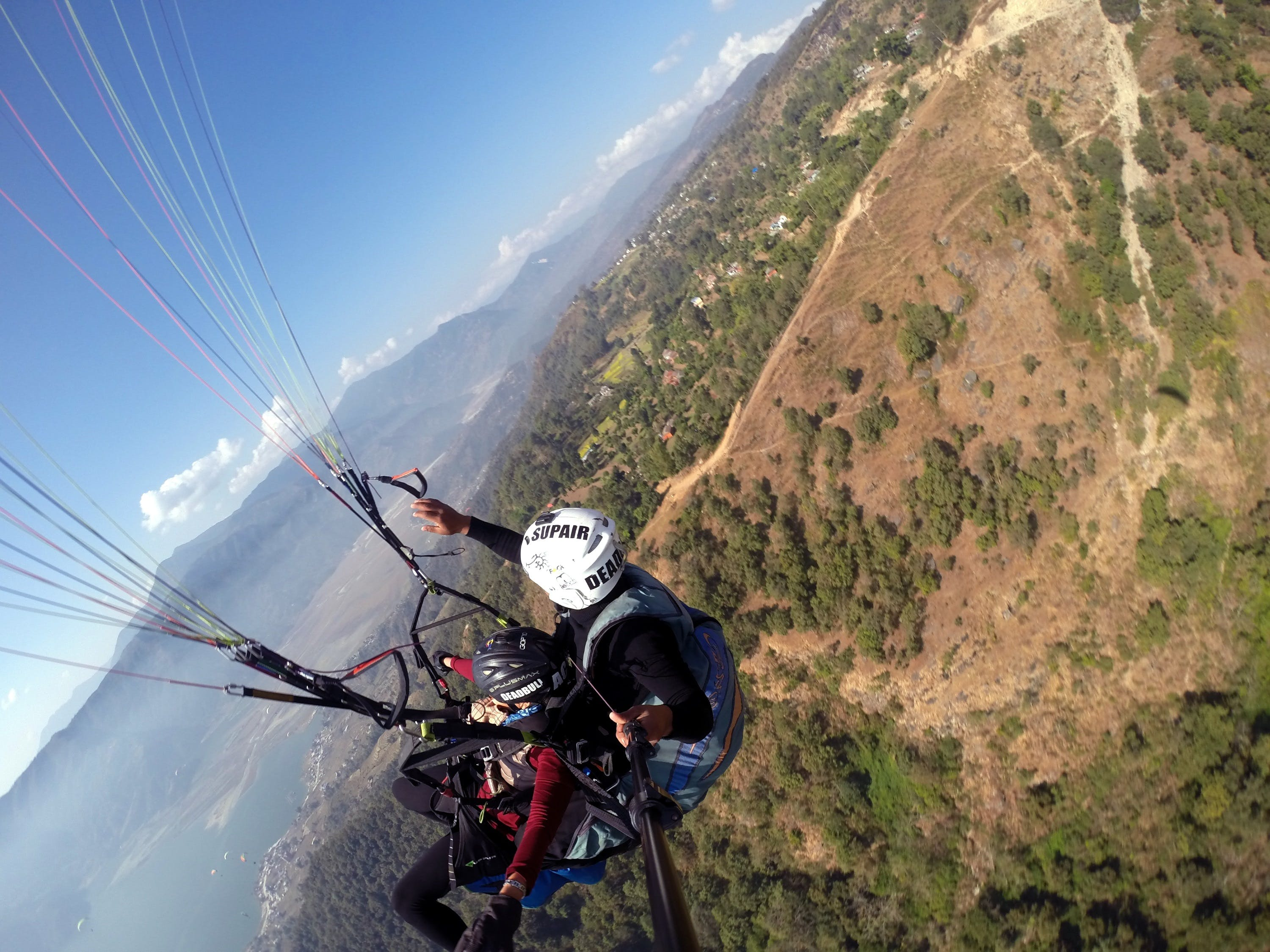 Free stock photo of adventure, high, nepal, paragliding
